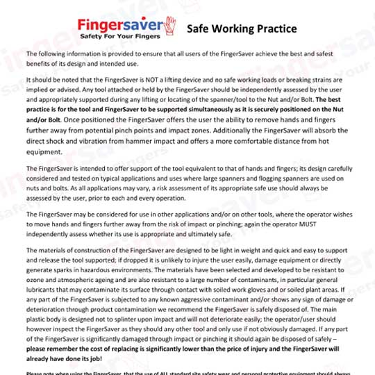 safe working practice