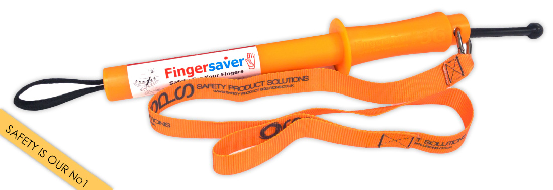 the fingersaver and safety lanyard